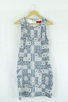 AU33 • Buy Tigerlilly Blue And White Dress 10 By Reluv Clothing