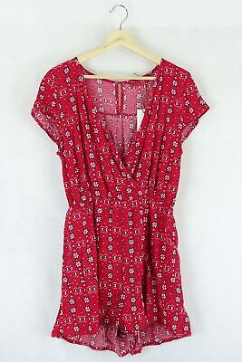 AU33 • Buy Tigerlilly Red Floral Dress 8 By Reluv Clothing