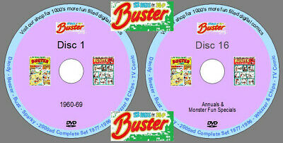 £29.79 • Buy Buster Comic Extensive Collection On 14 DVDs. UK Classic Comics. Collectible.