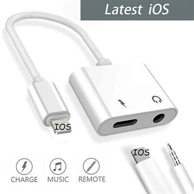 £4.99 • Buy For IPhone IOS 7 8 X 11 12 To 3.5mm Headphone Jack Audio AUX Splitter Adapter