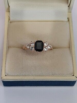 £99 • Buy 9ct Rose Gold Blue And White Sapphires Ring Possible Antique