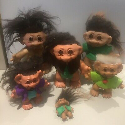 £100 • Buy Thomas Dam Troll Bundle 70s Re-haired With Mohair