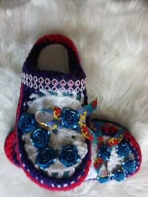 $18 • Buy Crocs Shoes Women Size Large Support Autism One Of A Kind Design By L Saunders.