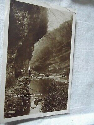 £0.99 • Buy Vintage 1916 B&W Postcard Of The Stepping Stone's In Miller's Dale