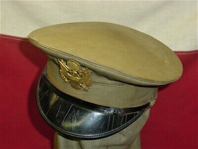 £7.15 • Buy Wwi Wwii Us Army Infantry Air Force Summer Visor Hat Eagle Badge Insignia