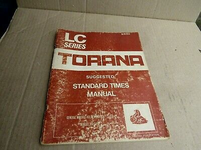 AU66 • Buy Holden Torana Lc Standard Times Supplement Book May Suit Gtr Xu1 Coupe Etc .