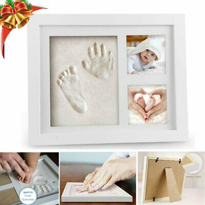 £9.59 • Buy Baby Hand Foot Print Frame Set Soft Imprint Clay For Moulding  Premium Gift