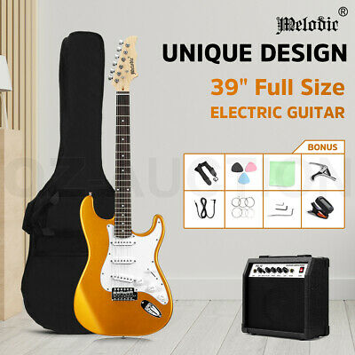 AU159.95 • Buy Melodic 39  Stratocaster SSS Electric Guitar With 25W Amplifier Dakota Golden