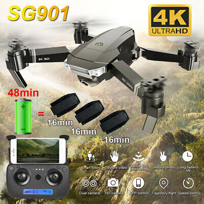 AU37.99 • Buy 5G 4K GPS Drone Four-Axis HD Camera Drones WiFi FPV 3x Batteries RC Quadcopter