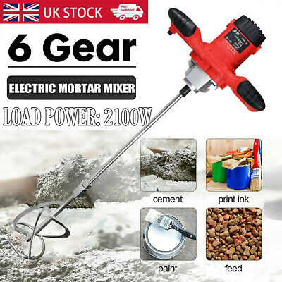 £45 • Buy Electric Plaster Mixer 2100W Mortar Cement Paint Paddle Drill Stirrer Whisk 220V