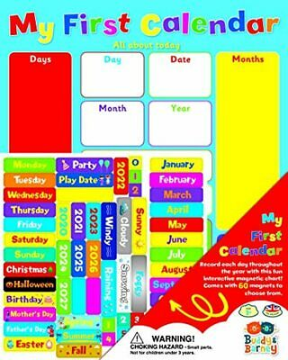 £20.23 • Buy Buddy & Barney | MY FIRST CALENDAR | Magnetic Wall Weather Chart, For Kids Child