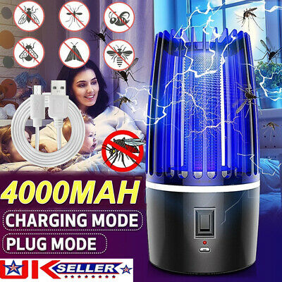 £16.20 • Buy USB Rechargeable Electric Mosquito Killer Light Fly Bug Insects Trap Zapper Lamp