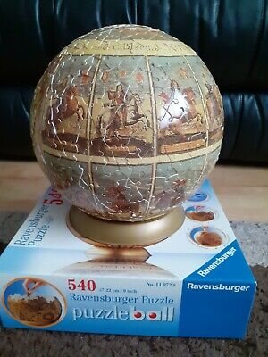 $8.34 • Buy Ravensburger Puzzle Ball 540 Pieces Historical World Map 3d Jigsaw