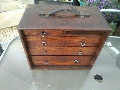 £29 • Buy Used Engineering Tools Wood Box No Front 1 Draw Missing Collection In Person Onl