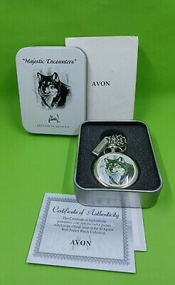 $14.99 • Buy Avon Pocket Watch, Majestic Encounters Wolves: Al Agnew Exclusive Edition