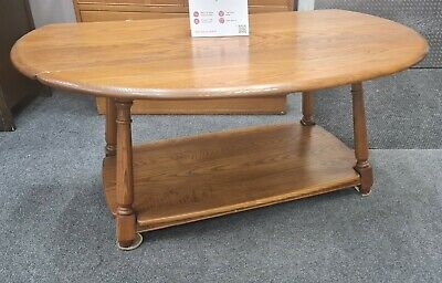 £19.99 • Buy ERCOL Solid Ash Drop Leaf Coffee Table - CIS S53
