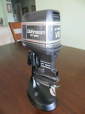 AU493.21 • Buy Johnson Gt 300 Hp Outboard Motor With Stand Alter Scale Boat Motor