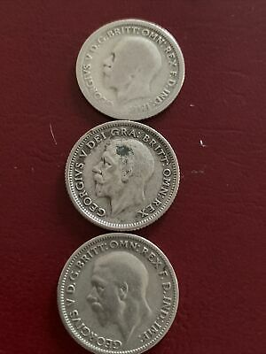 £1 • Buy George V 1926-1929-1933 (.500) Silver Sixpence