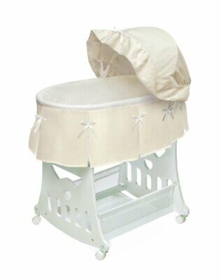 $156.44 • Buy Portable Rocking Baby Bassinet With Toybox Base Short Skirt And Pad