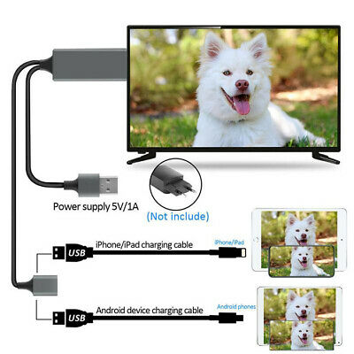 £7.62 • Buy Hd Hdmi Mirroring Cable Cellhone To Tv Hdtv Adapters Suitable For Iphone Android
