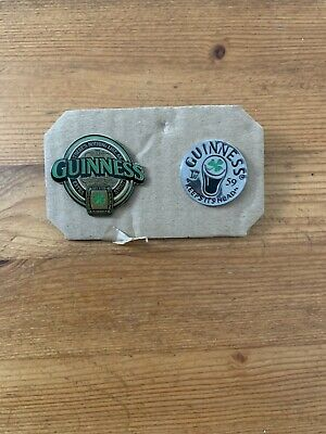£3.99 • Buy 2no Guinness Slogan Large Enamel Clutch Pins Vg Condition