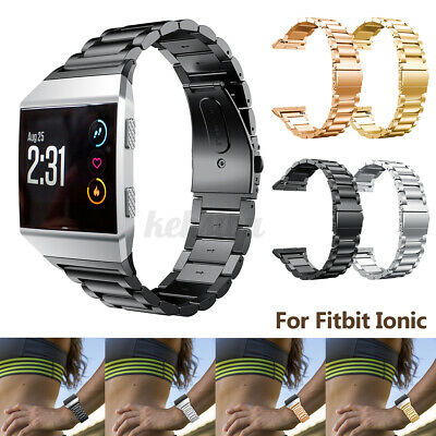 AU20.29 • Buy For Fitbit Ionic Replacement Stainless Watch Wrist Sports Band Strap Bracelet