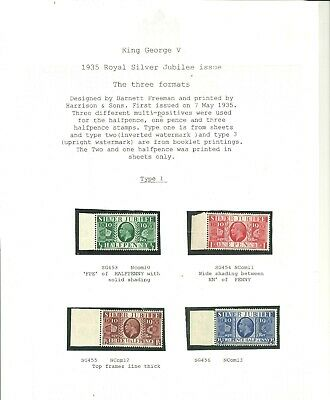 £14.99 • Buy 1935 Royal Silver Jubilee Set ,All 3 Formats Presented On Three Album Pages. UMM