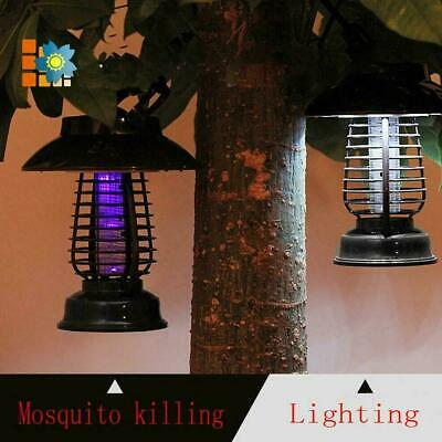 £5.86 • Buy Solar Powered LED Mosquito Fly Bug Insect Zapper Killer Trap Light Lamp P9J8