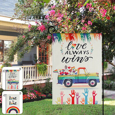 £5.49 • Buy Welcome Garden Flag Spring Summer Vertical Double Sided Yard Outdoor Decor UK