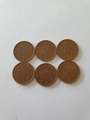 £10 • Buy Rare Collectable 1p Coin X6new Penny 1971-1981