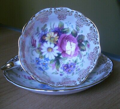 £5 • Buy Regal Bone China Flower And Gilt Decorated Cup And Saucer