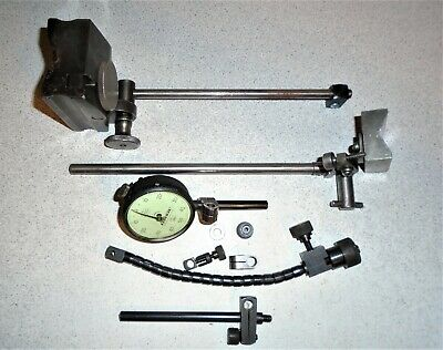 $14.95 • Buy Vintage Machinist Federal G81-3 Dial Indicator W/2 Test Stands And Parts