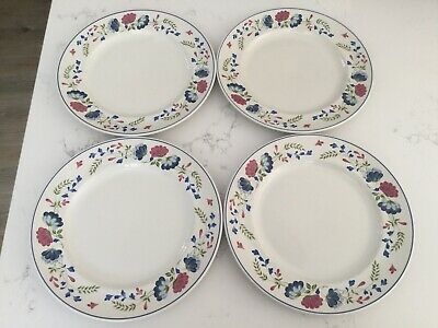 """£28.49 • Buy 4 X BHS Priory Dinner Plates - British Home Stores 10"""" Floral Vintage"""