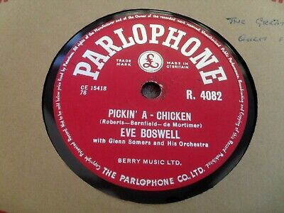 £5 • Buy Eve Boswell: Pickin' A Chicken 1955 Parlophone 78rpm Ex+