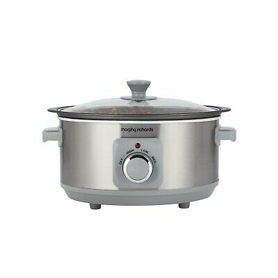 £9.99 • Buy RRP 39 Morphy Richards 460013 3.5L Sear And Stew Slow Cooker - Ivory Cream