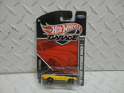 $24.99 • Buy Hot Wheels Garage #12 Yellow '70 Ford Mustang Mach 1 W/Real Riders