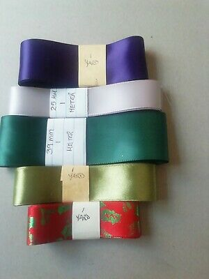 £0.99 • Buy Craftroom Clearout - Bundle Assorted Ribbon, Assorted Widths/colours K
