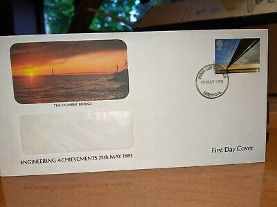 £1 • Buy The Humber Bridge Engineering Achievements 1983 First Day Cover Stamp #199