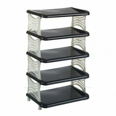 £9.99 • Buy 5 Tier Shoe Rack Plastic Organizer Shoes Storage Space Saver Stand Shoe Holder