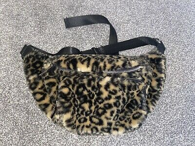 £2.49 • Buy Topshop Fur Leopard Print Bum Bag ONLY USED ONCE