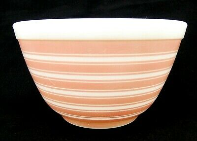 $28 • Buy Vintage Pyrex Pink Rainbow Stripe Mixing Bowl #401 1 1/2 Pt - Made In The USA