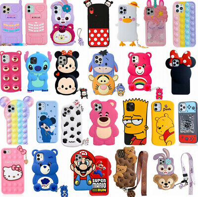 AU13.57 • Buy Cute 3D Cartoon Soft Silicone Case Cover For IPhone 12 11 Pro Max XR  7 8 Plus