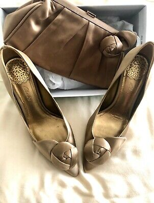 £15 • Buy Clarks Perfect Wedding Shoes In Champagne Petal With Matching Evening Bag
