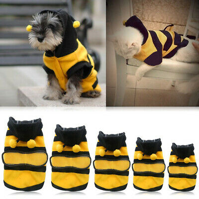 £2.41 • Buy Bee Pet Puppy Coat Apparel Outfits Fleece Clothes Dog Hoodie Costume 2021 1pcs