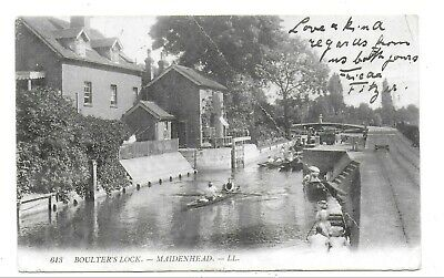 £0.75 • Buy Antique Postcard 613 Boulter's Lock Maidenhead Posted 1908
