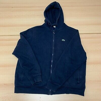 £14.99 • Buy Lacoste Hoodie Mens Large Blue Hooded Full Zip Up Embroidered Logo