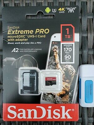 $277 • Buy New SanDisk Extreme Pro 1TB MicroSDXC Micro SD Memory Card With Adapter + Reader