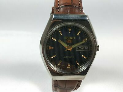 $ CDN22.40 • Buy Vintage Seiko 5 Mechanical Automatic Movement Day, Date Dial Mens Watch J95