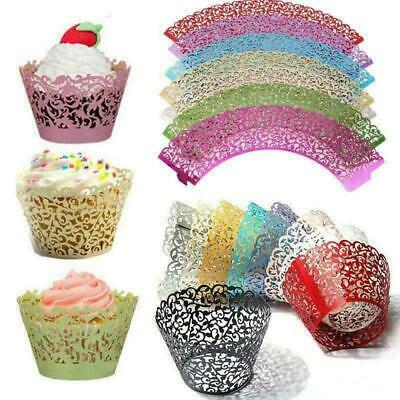 £5.59 • Buy 50/100Pcs Lace Cupcake Wrappers Muffin Cases Wedding Birthday Cake DIY Baking