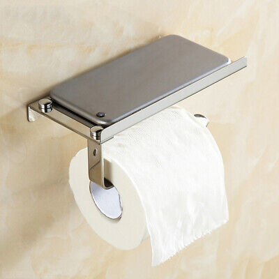 AU17.96 • Buy Bathroom Wall Mounted Toilet Paper Roll Holder Tissue Holder Storage Dispensers